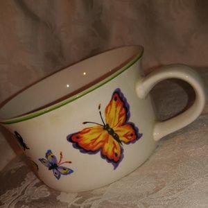 Butterfly Garden Wide Mug/ Soup Bowl